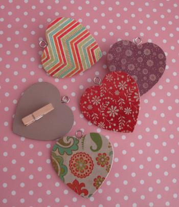 pinzas de corazones