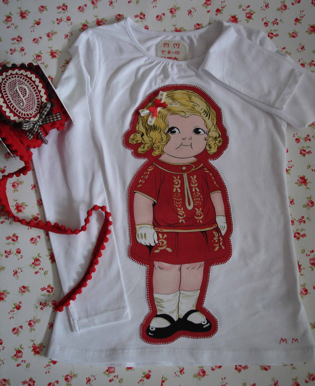 Camiseta muñeca roja 1
