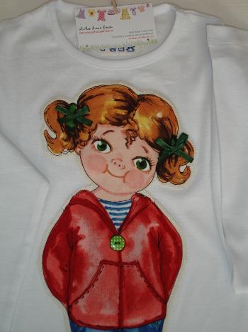 Detalle muñequita verde vestid