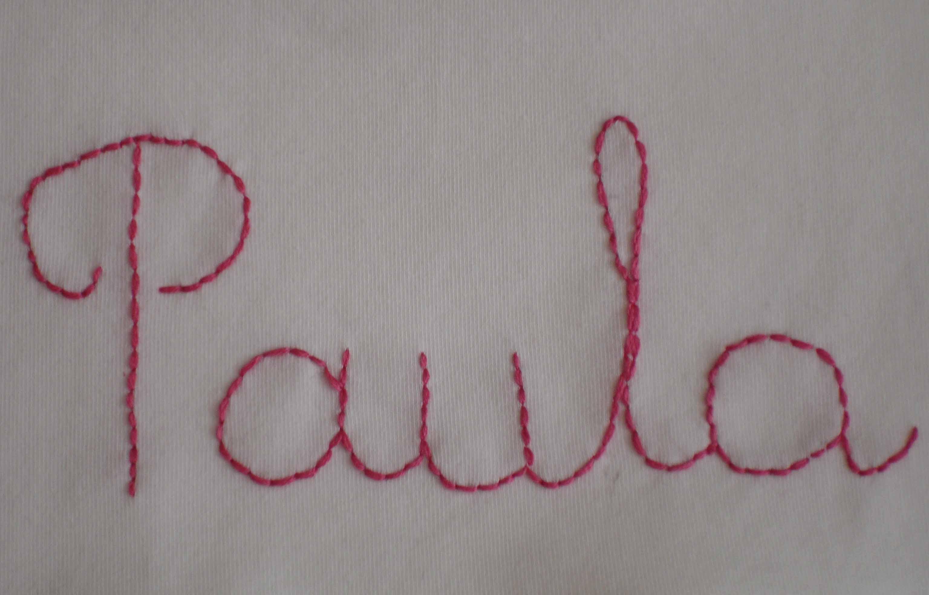 Paula bordado