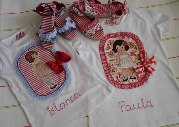 Camisetas Blanca y Paula