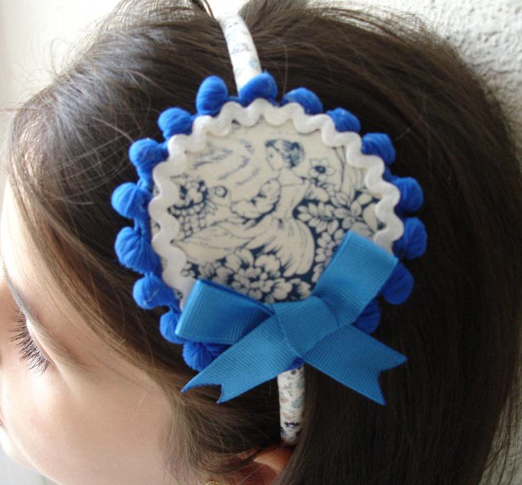 Diadema azul Jimena