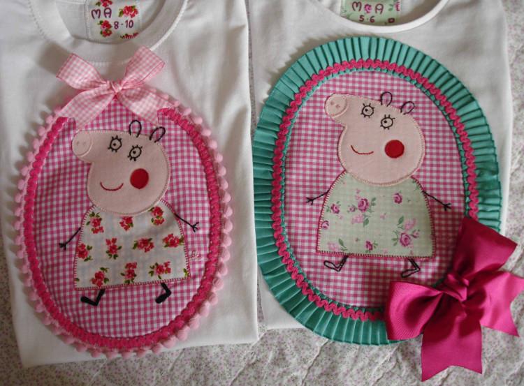 Camisetas Peppa Pig Sandra y Ana