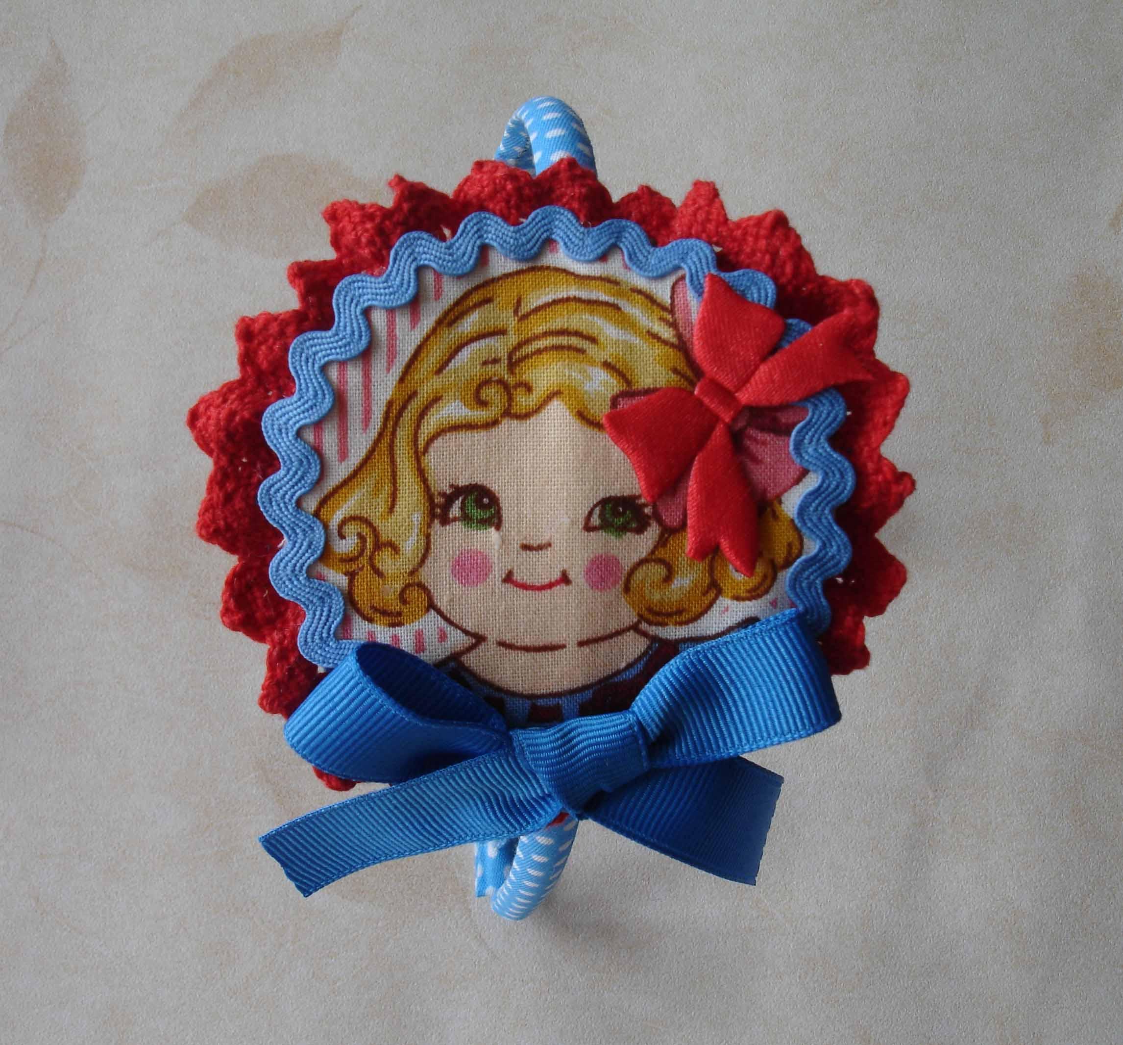 Diadema muñequita azules