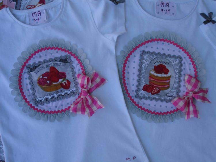 Camisetas pasteles