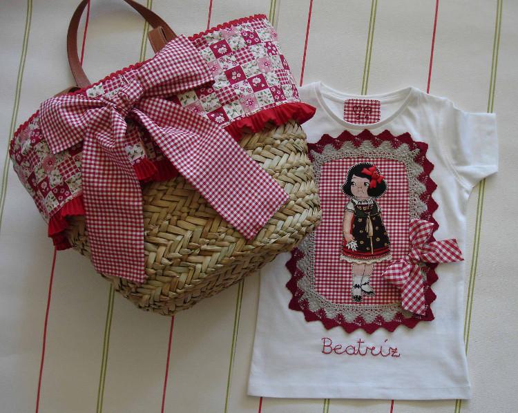 Camisetas Beatría muñequita y capazo 3