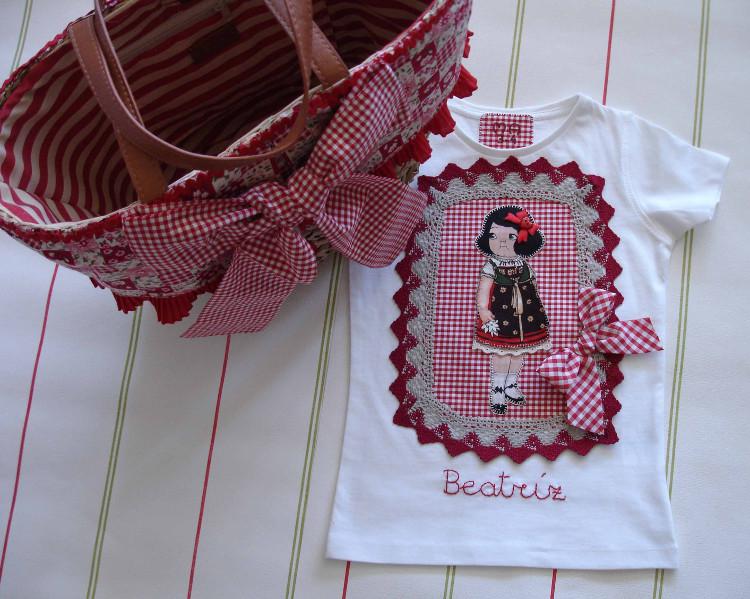 Camisetas Beatríz muñequita y capazo 6