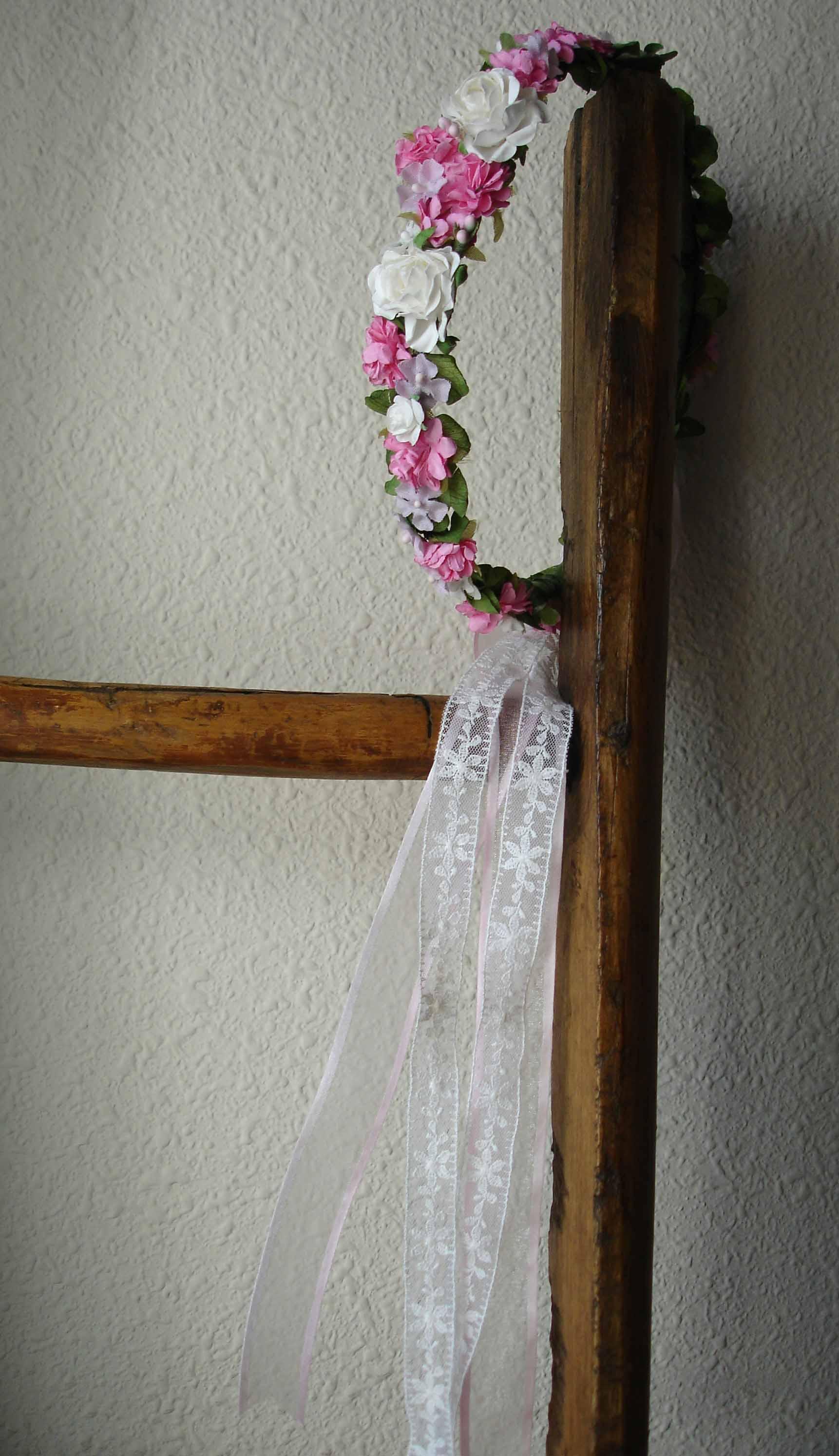 Corona Cruz rosa 12