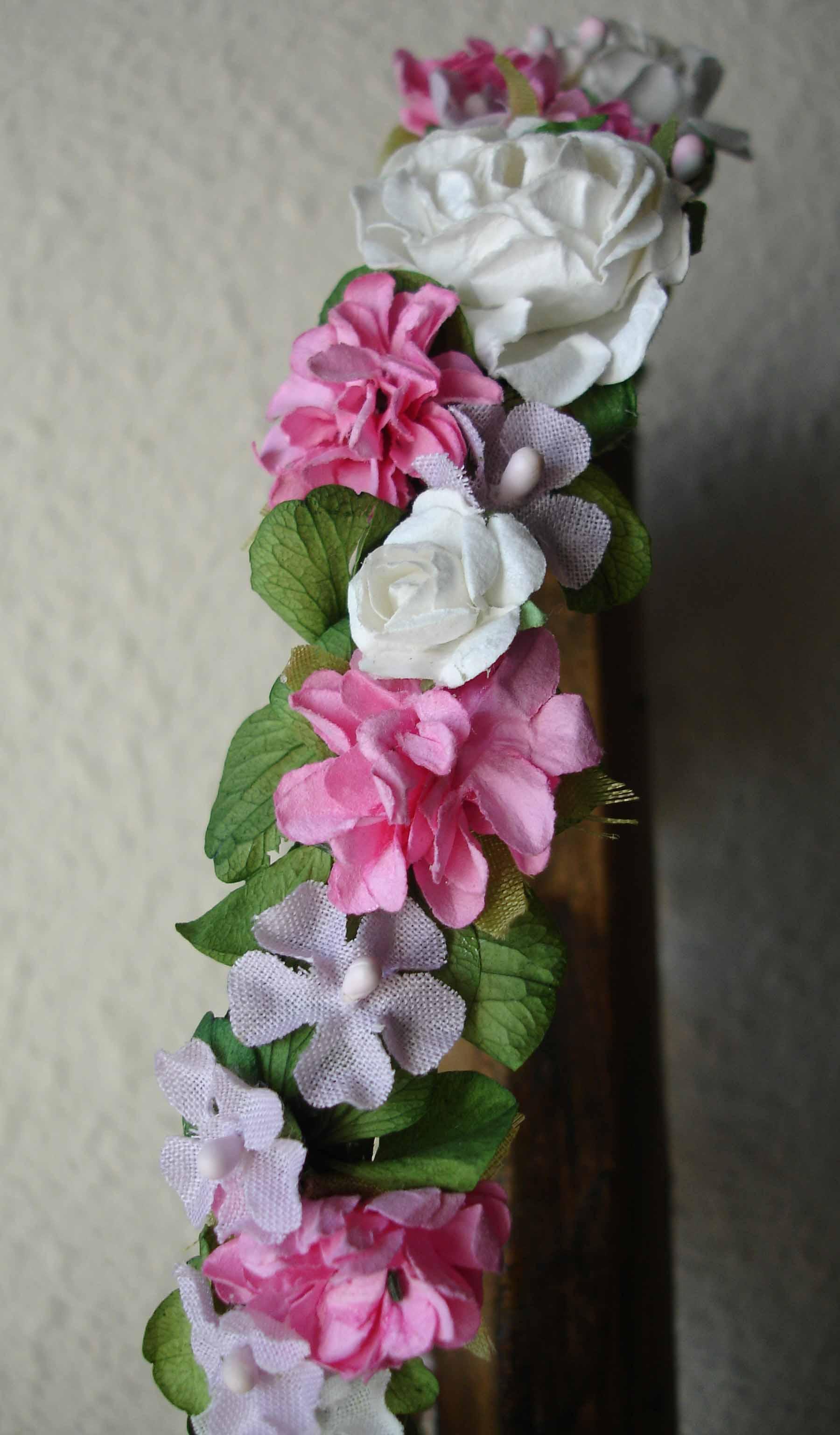 Corona Cruz rosa 19