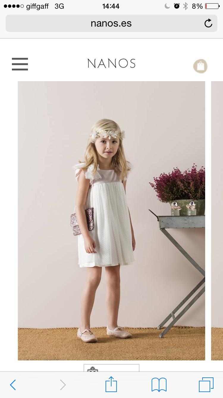 Vestido blanco y rosa empolvado Diana