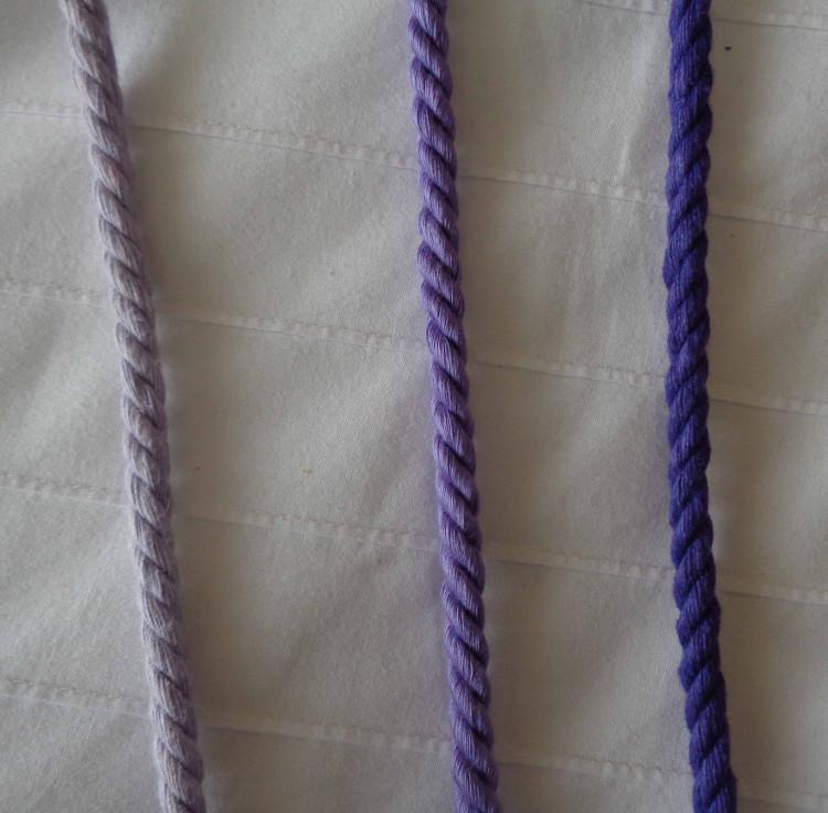 Lazos malva, violeta y morado